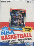 1986/87 Fleer Basketball Display Box