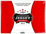 2013 Leaf Autographed Jersey Football Hobby Box