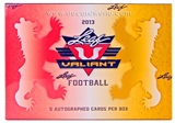2013 Leaf Valiant Football Hobby Box