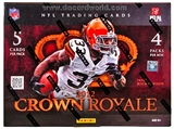 2012 Panini Crown Royale Football Hobby Box - WILSON & LUCK ROOKIES!