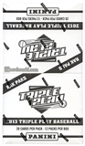 2013 Panini Triple Play Baseball Rack Pack Box (12 Packs)
