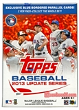 2013 Topps Update Baseball 10-Pack Box + Bonus Patch Card !!!