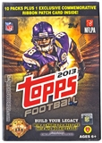 2013 Topps Football 10-Pack Box (PLUS One Patch Card!)