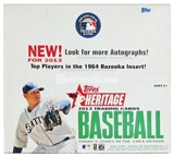 2013 Topps Heritage Baseball Retail 12-Pack Box