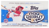 2013 Topps Pro Debut Baseball Hobby Box