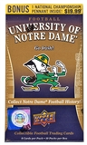 2013 Upper Deck University of Notre Dame Football 10-Pack Box