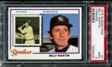 1978 Topps Burger King Yankees Baseball #1 Billy Martin PSA 9 (MINT) *9430