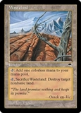 Magic the Gathering Tempest Single Wasteland - SLIGHT PLAY (SP)