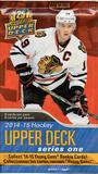 2014/15 Upper Deck Series 1 Hockey Retail Pack