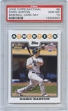 2008 Topps National Baseball Card Day #8 Daric Barton Rookie Card PSA 10