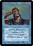 Magic the Gathering Alpha Single Psionic Blast UNPLAYED (NM/MT)