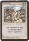 Magic the Gathering Alpha Single Wrath of God - MODERATE PLAY (MP)