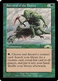 Magic the Gathering Exodus Single Survival of the Fittest HEAVY PLAY