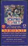 1991 Pro Set Series 2 Football Prepriced Box