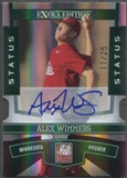 2010 Donruss Elite Extra Edition #26 Alex Wimmers Signature Status Emerald Auto #11/25