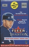 2001 Fleer Tradition Baseball 23 Pack Blaster Box
