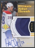 2007/08 Ultimate Collection #DTKC Kyle Chipchura Ultimate Debut Threads Rookie Patch Auto #07/10