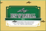 2012 Leaf Best Of Baseball Hobby Box
