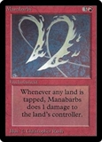Magic the Gathering Beta Single Manabarbs - NEAR MINT (NM)
