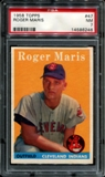 1958 Topps Baseball #47 Roger Maris Rookie PSA 7 (NM) *6246