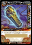 WoW Aftermath: Tomb of the Forgotten Spurious Sarcophagus Unscratched Loot Card