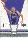 2002/03 Upper Deck UD Glass Get Real Jersey #MBR Mike Bibby