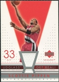 2002/03 Upper Deck UD Glass Get Real Jersey #SPR Scottie Pippen