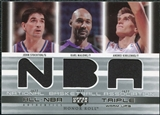2002/03 Upper Deck Honor Roll Triple Warm-ups #JSKMAK John Stockton Karl Malone Andrei Kirilenko