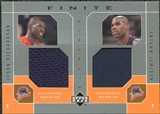 2002/03 Upper Deck Finite Elements Dual Warm-Ups #JRAJ Jason Richardson Antawn Jamison