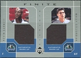 2002/03 Upper Deck Finite Elements Dual Warm-Ups #KGWS Kevin Garnett Wally Szczerbiak