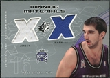 2002/03 Upper Deck SPx Winning Materials #PSW Peja Stojakovic Warm Jersey