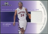 2002/03 Upper Deck Materials Shooting Shirt #MPS Morris Peterson