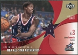 2002/03 Upper Deck All-Star Authentics Jerseys #SFAJ Steve Francis SP /71