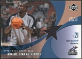 2002/03 Upper Deck All-Star Authentics Warm-Ups #KGAW Kevin Garnett