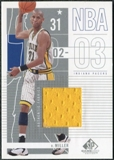 2002/03 Upper Deck SP Game Used #35 Reggie Miller Jersey