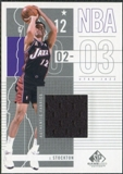 2002/03 Upper Deck SP Game Used #96 John Stockton Jersey