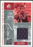 2002/03 Upper Deck SP Game Used All-Star Apparel #SFAS Steve Francis