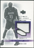 2003/04 Upper Deck Ultimate Collection Jerseys #KM Karl Malone /200