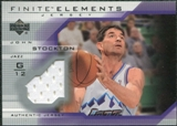 2003/04 Upper Deck Finite Elements Jerseys #FJ6 John Stockton
