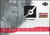 2003/04 Upper Deck All-Star Weekend Authentics #ASTP Tony Parker