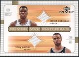 2003/04 Upper Deck Combo Materials #DRTP David Robinson Tony Parker
