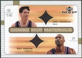 2003/04 Upper Deck Combo Materials #JSKM John Stockton Karl Malone