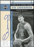 2003/04 Upper Deck Legends Signs of a Future Legend #DM Darko Milicic SP Autograph