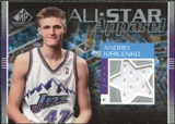2003/04 Upper Deck SP Game Used All Star Apparel #AKAS Andrei Kirilenko