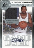 2003/04 Upper Deck SP Game Used Authentic Fabrics #MCJ Marcus Camby