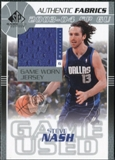 2003/04 Upper Deck SP Game Used Authentic Fabrics #SNJ Steve Nash