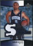 2004/05 Upper Deck Sweet Shot Swatches #CB Carlos Boozer