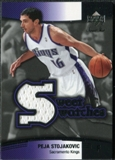 2004/05 Upper Deck Sweet Shot Swatches #PS Peja Stojakovic