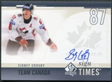 2010/11 Upper Deck SP Authentic Sign of the Times #SOTCR Sidney Crosby SP Autograph