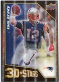 2009 Upper Deck 3D Stars #3D1 Tom Brady Randy Moss